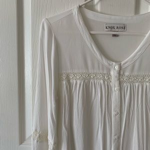 Knox Rose lace button down blouse
